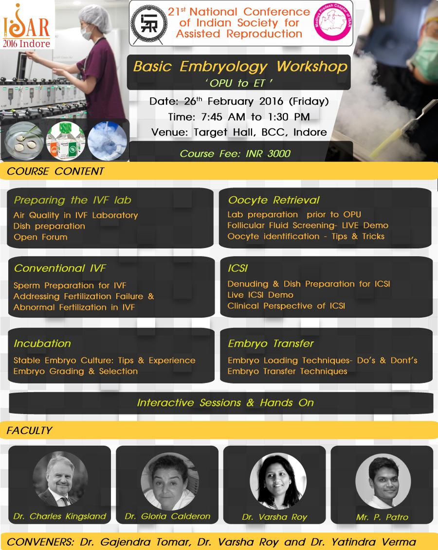 ISAR BaiscEmbryology WorkshopAnn0.ouncement